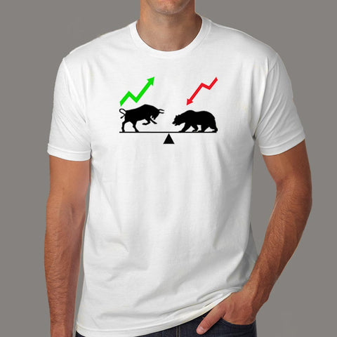 Bear And Bull Market T-Shirt For Men Online India