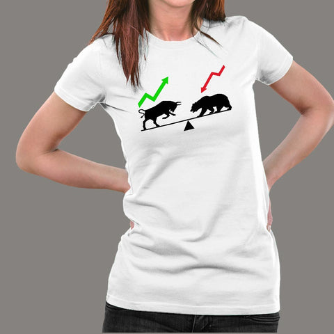 Bear And Bull Market T-Shirt For Women Online India