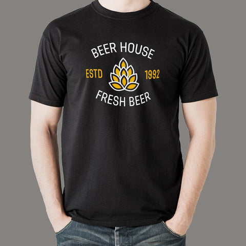 Beer House T-Shirt For Men Online India