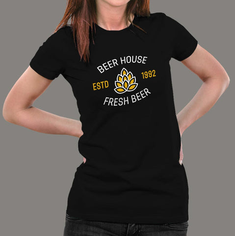 Beer House T-Shirt For Women Online India
