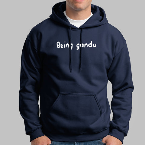 Being Gandu Parody Hoodies For Men India