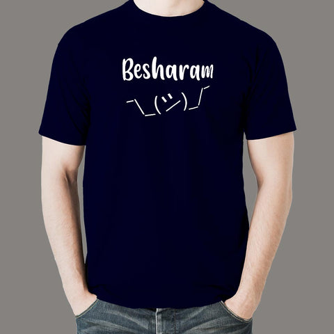 Besharam Men's Hindi Meme T-shirt online india