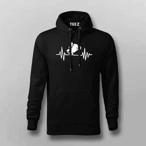 Biker Heartbeat Hoodies For Men Online India