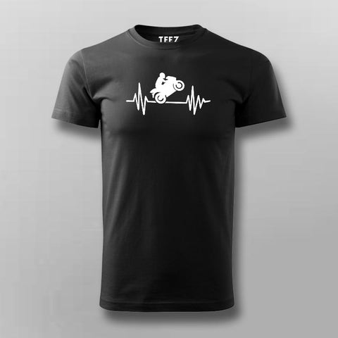 Biker Heartbeat T-Shirt For Men