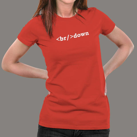 Breakdown Html Code T-Shirt For Women Online India