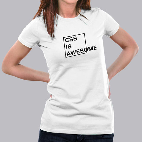 CSS Is Awesome Women's T-Shirt india