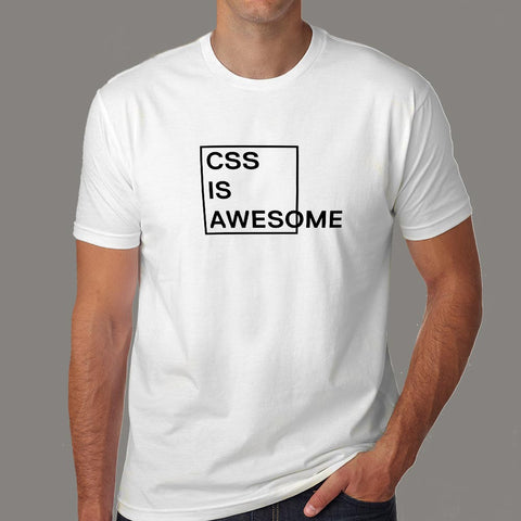 CSS Is Awesome Men's T-Shirt online india