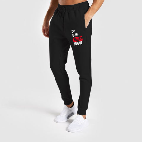C++ Is My Mother Tongue Funny Programmer Printed Joggers For Men