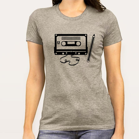 Cassette & Pencil Women's T-shirt