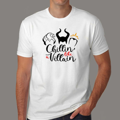 Chillin Like A Villain T-Shirt For Men Online India