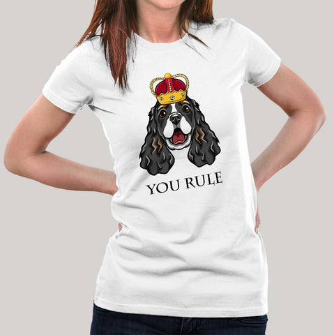 Cocker Spaniel T-Shirt For Women Online India