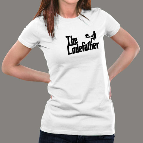 The Codefather Funny Programmer Women's T-Shirt India