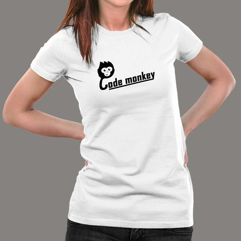 Code Monkey T-Shirt For Women Online India