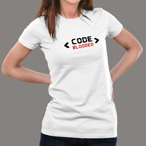 Code Blooded Programmer Women's T-Shirt online india