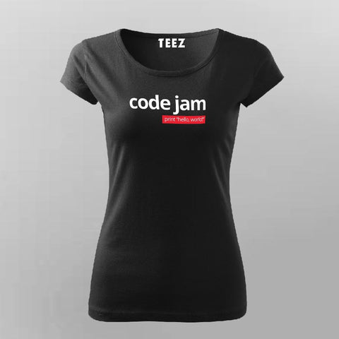 Code Jam T-Shirt For Women Online India