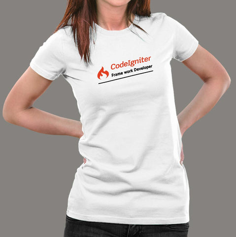 CodeIgniter Framework Developer Women's Profession T-Shirt Online India