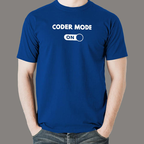 Coder Mode On Men's T-Shirt online india