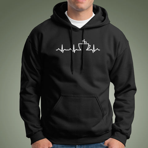 Coffee Heartbeat Hoodies For Men Online India