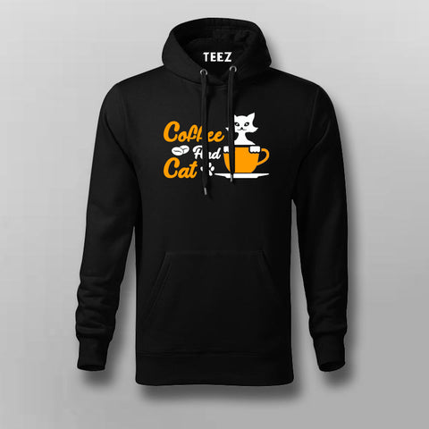 Coffee And Cat Hoodies For Men Online India