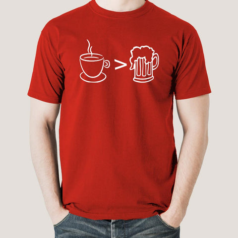 Coffee is Better than Alcohol Men's T-shirt