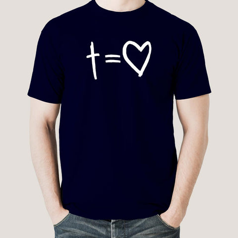Cross Equals Love Men's Christian T-shirt