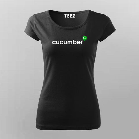 Cucumber Framework T-Shirt For Women Online India