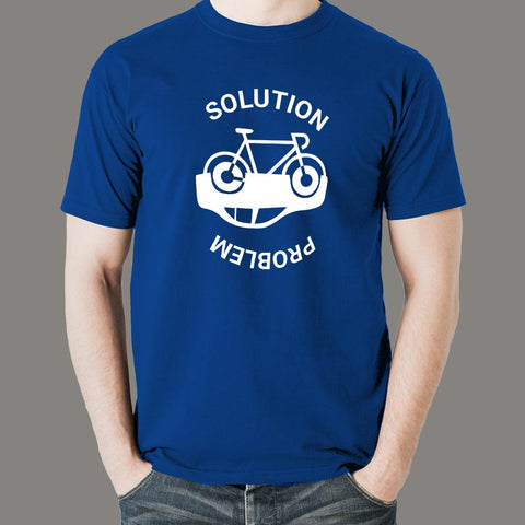 Solution for pollution Bicycling Men's T-Shirt online