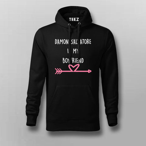 Damon Salvatore Is My Boyfriend Men's Vampire Diaries Hoodies Online India