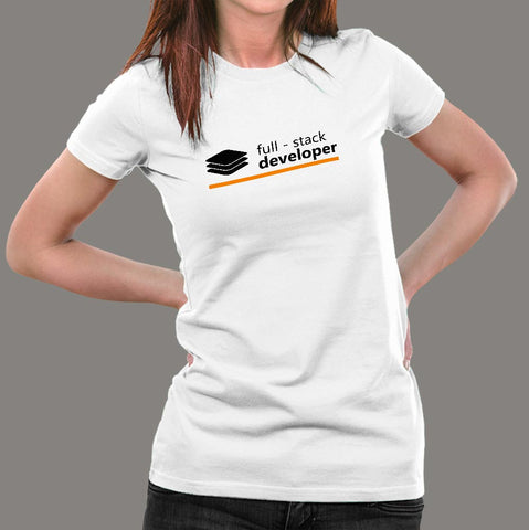 Full Stack Developer T-Shirt For Women India