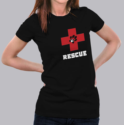 Dog Rescue T-Shirt For Women India