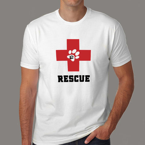 Dog Rescue T-Shirt For Men Online India
