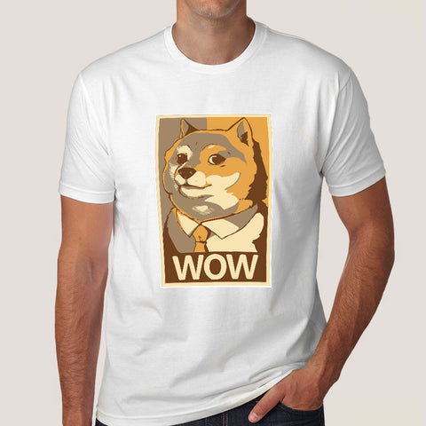 Doge Wow Poster Meme Men's T-shirt