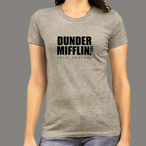 Dunder Mifflin INC Paper Company T-Shirt For Women Online India