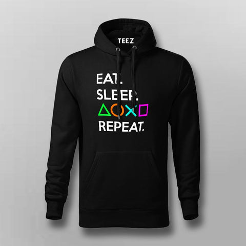 Eat Sleep Playstation Repeat Hoodies Online India