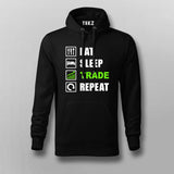 Eat Sleep Trade Repeat Funny Investors Hoodies For Men Online India