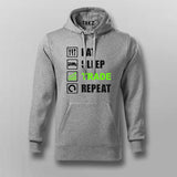 Eat Sleep Trade Repeat Funny Investors Hoodies For Men