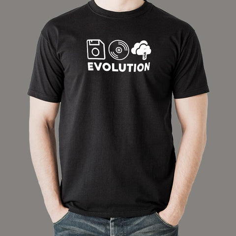 Evolution of Data Storage Computer Science T-Shirt For Men