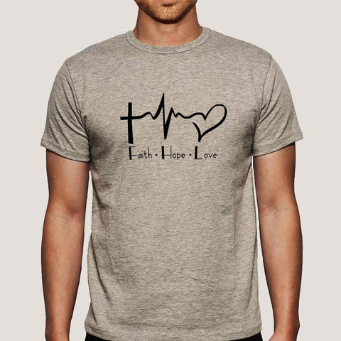 Faith Hope Love Men's Christian T-shirt