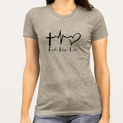Faith Hope Love Women's Christian T-shirt