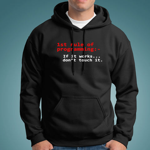 First Rule Of Programming Men's Hoodies Online India