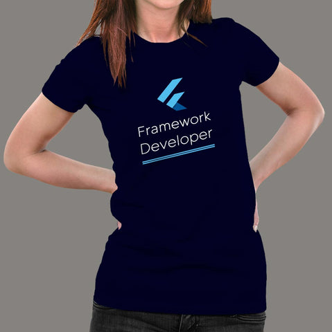 Flutter Framework Developer Women's Profession T-Shirt