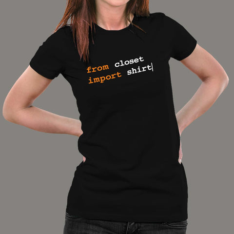 From Python Import Witty T-Shirt For Women Online India
