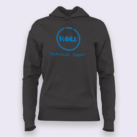 Funny Dell Parody Logo Computer Tech Support Hoodies For Women India
