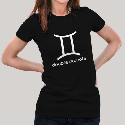 Gemini  Zodiac Sign T-shirts For Women India