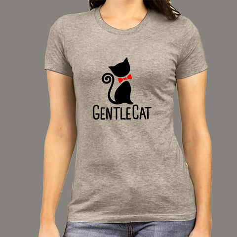 Gentle Cat T-Shirt For Women Online India