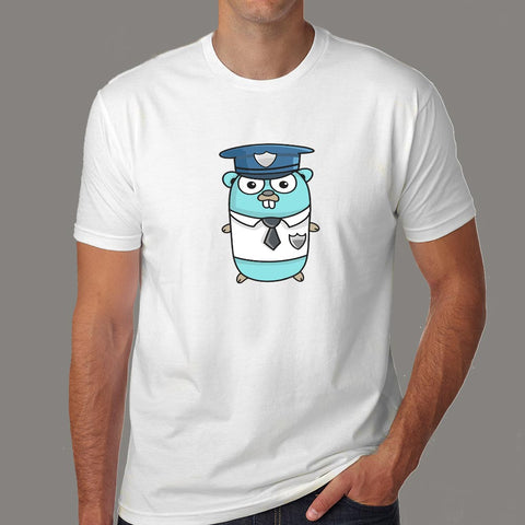 Golang Gopher Programmer T-Shirt For Men Online India