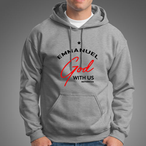 Emmanuel God With Us Christmas Noel Matthew 1:23 Hoodies For Men Online India