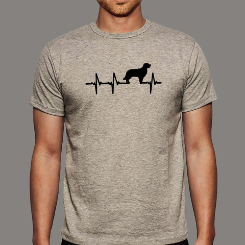 Golden Retriever Heartbeat T-Shirt For Men Online India