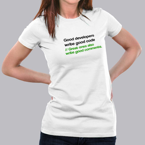 Great Developers Funny Programmers T-Shirt For Women India