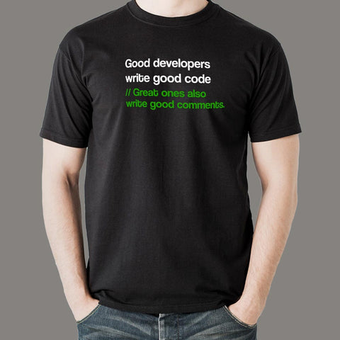 Great Developers Funny Programmers T-Shirt For Men Online India